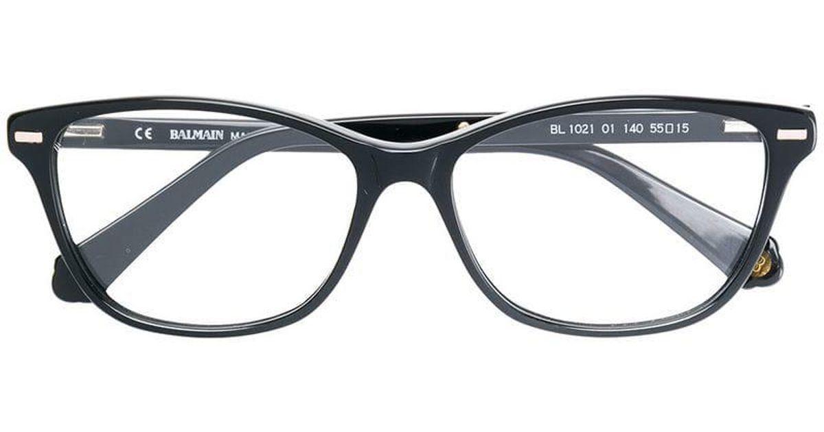 4fd54fade0acd Lyst - Lunettes de vue à monture carrée Balmain en coloris Noir