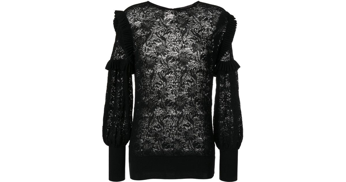 Buy Cheap Amazon Discount Release Dates lace detail top - Black Antonino Valenti Order Online Clearance From China Outlet 2018 Newest 2Fpqt