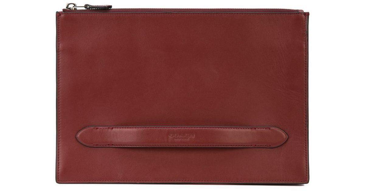 Pochette Coach Coloris Lyst Rouge En Pour Homme Manhattan g6xwFwqRH