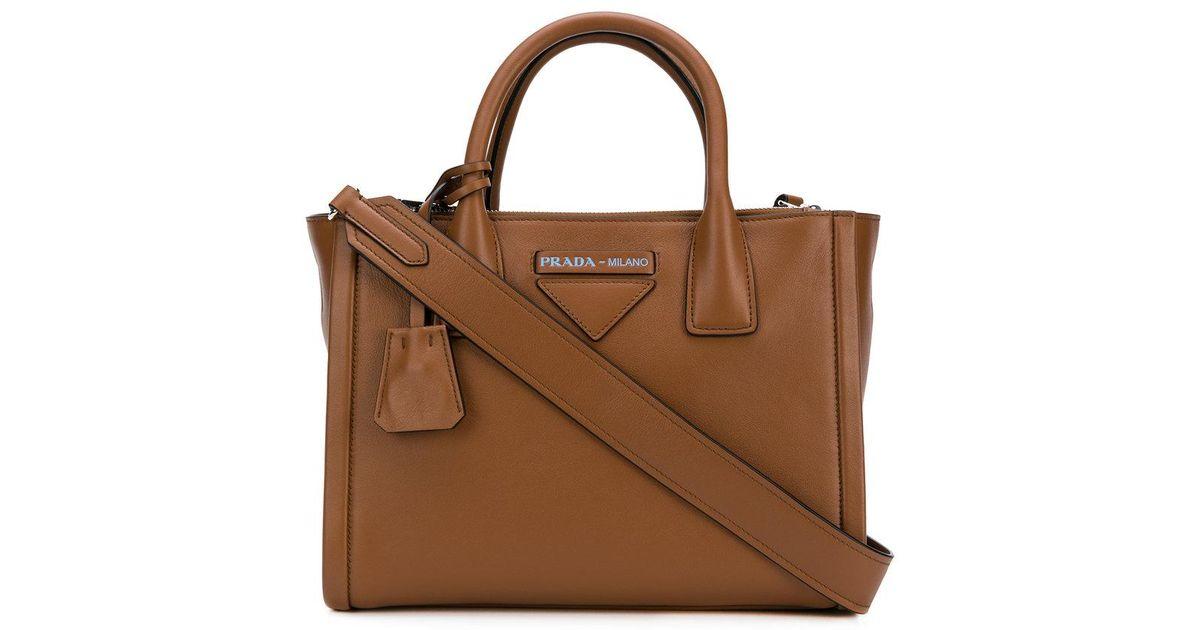 e60268fe2556 Prada Concept Tote Bag in Brown - Lyst