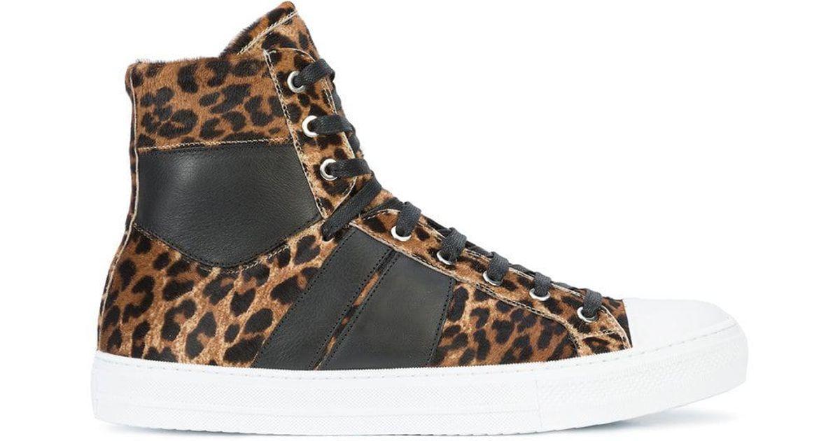 98adae3326c0 Amiri Sunset Leopard Sneakers in Black for Men - Lyst