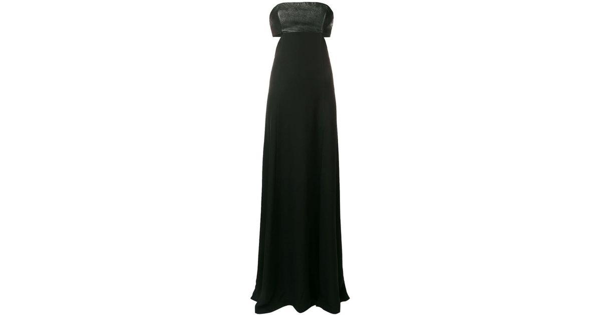Kaia Maxi Lagerfeld Black X Dress Karl Silk Lyst CxhtdsQBr