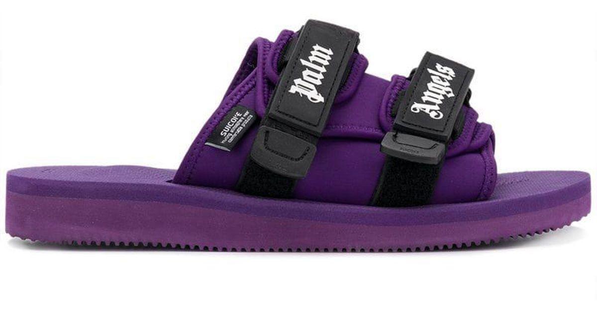 64d73244de50 Lyst - Palm Angels X Suicoke Slides in Purple for Men
