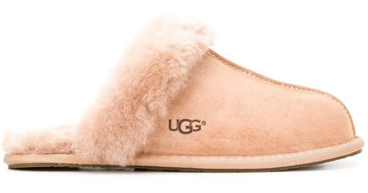 dc78dfbeedb Ugg - Pink Shearling Slippers - Lyst
