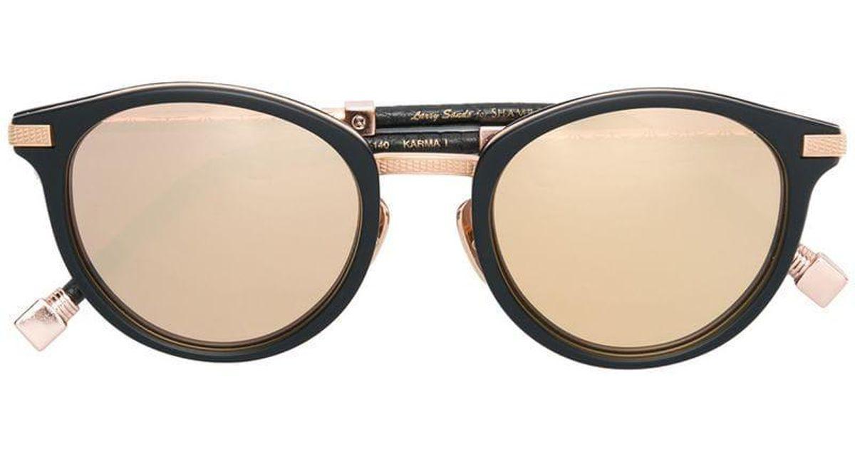 204f426d7a7 Shamballa Eyewear Shamballa X Larry Sands Karma I Sunglasses in Black - Lyst