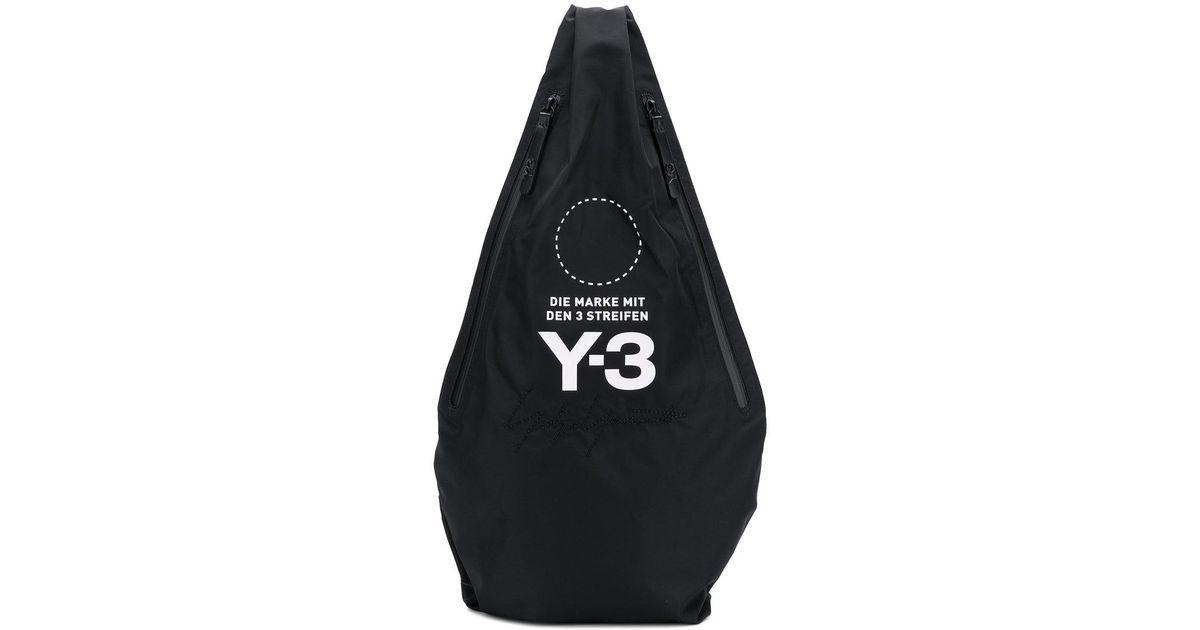 Y-3 - Black Crossbody Backpack - Lyst affd52c3b3693