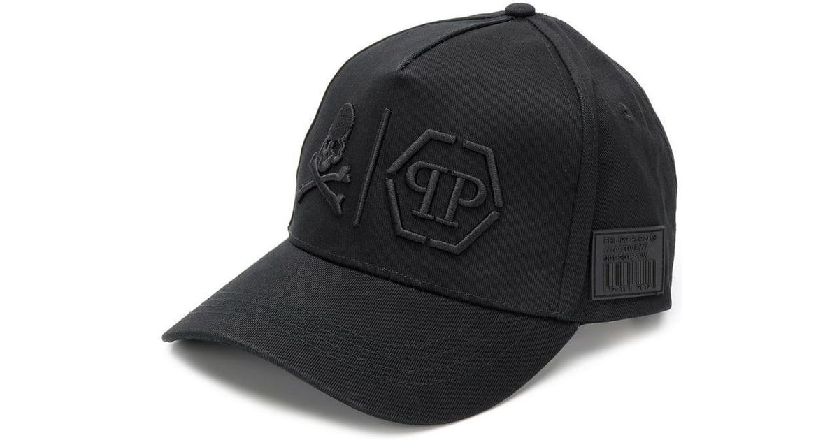 63700f99a12 Lyst - Philipp Plein  simple Skull  Cap in Black for Men