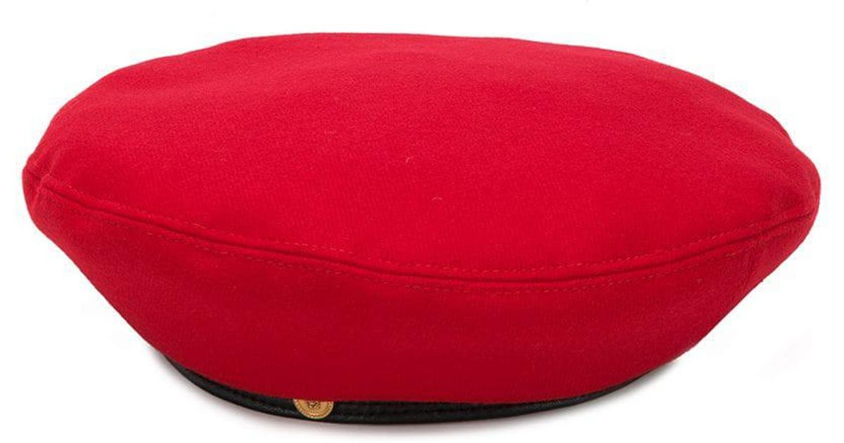 98c76ce00d2c5 Versace Tiny Medusa Beret in Red - Lyst