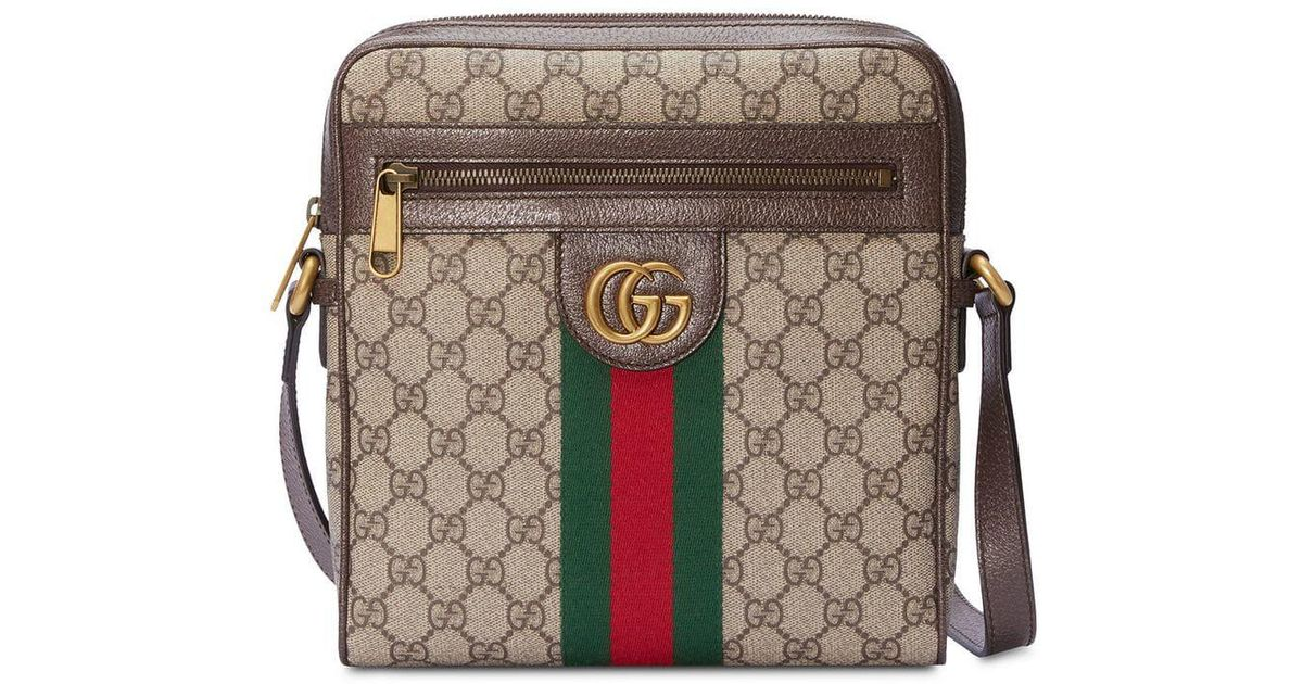 0e02530418bc2c Gucci Ophidia GG Small Messenger Bag in Brown for Men - Lyst