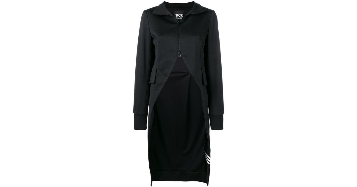 e51144146 Lyst - Y-3 Asymmetric Zipped Up Sweater in Black