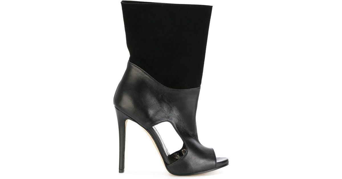 MARC ELLIS Open toe cut out detail boots From China For Sale Visit New Cheap Online uKrXAf1