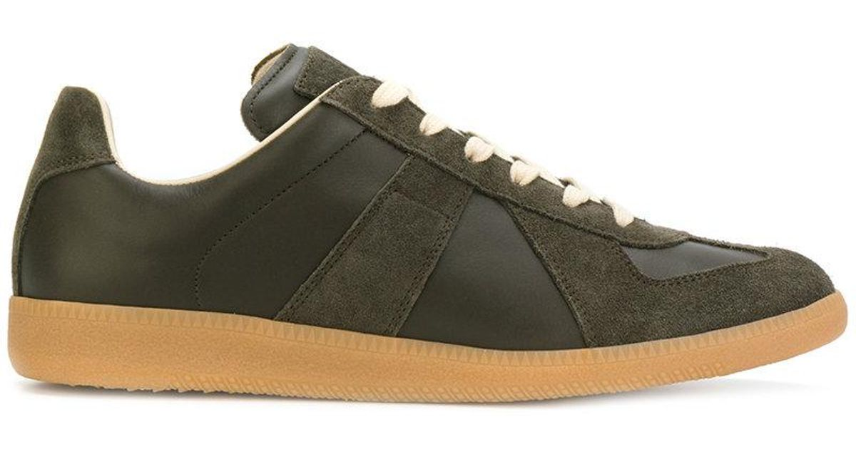 cheap for discount fe1e5 10660 maison-martin-margiela-Green-Low-Top-Replica-Sneakers.jpeg