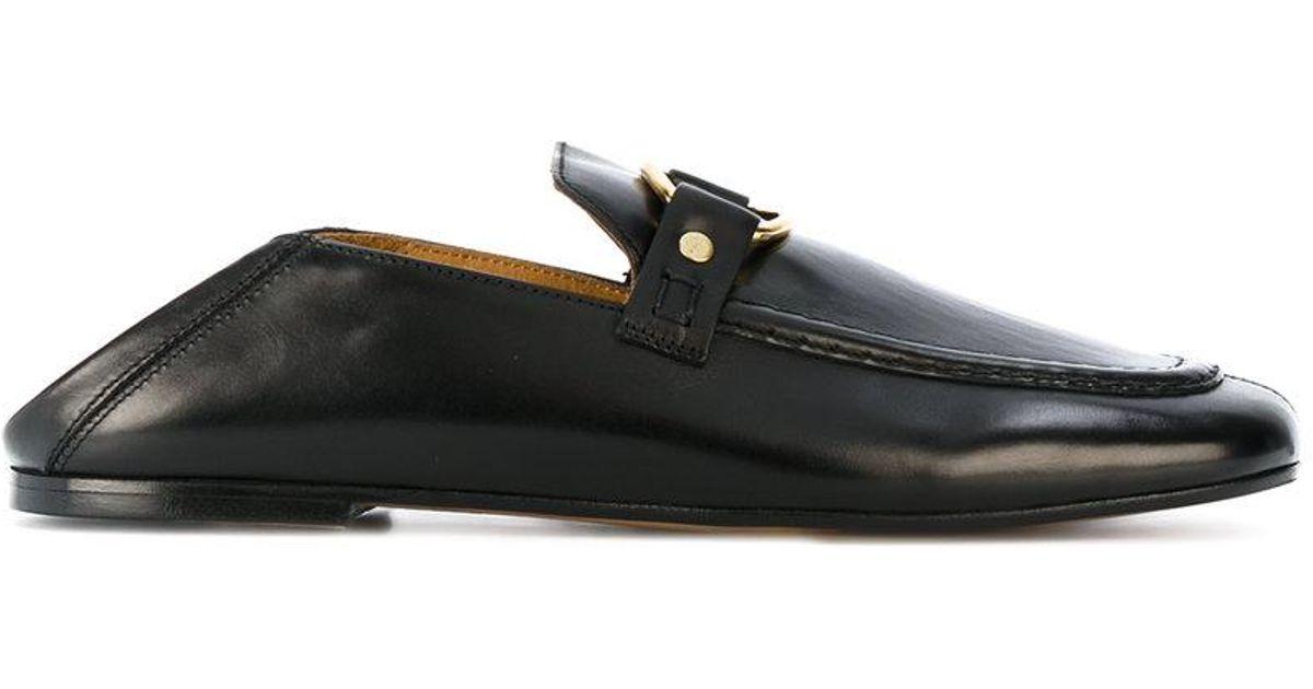 4af57bc62a8 Isabel Marant Slip-on Loafers in Black - Lyst