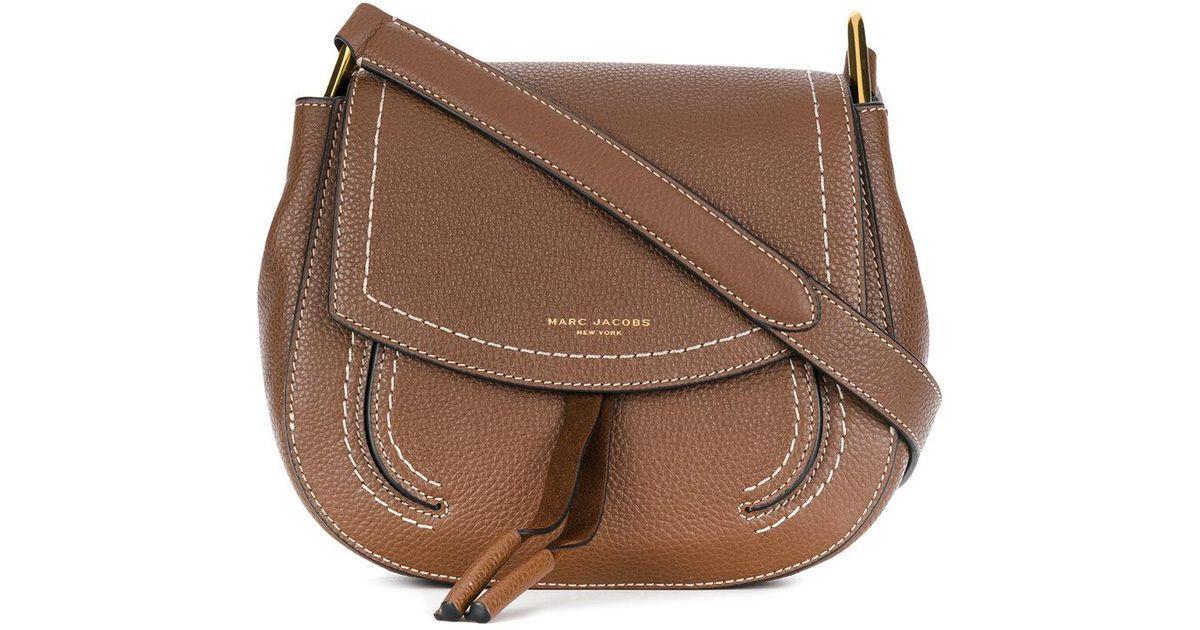 dbf737e9b062 Marc Jacobs Mini Maverick Shoulder Bag in Brown - Lyst