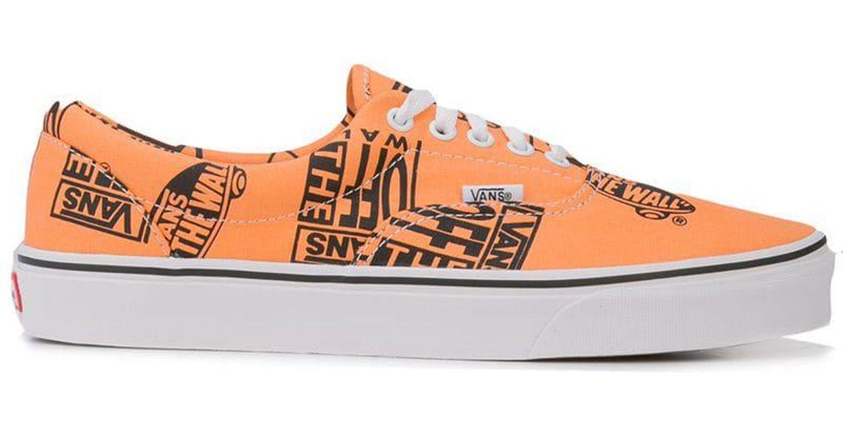 1e73c91c71d7 Lyst - Vans Era Logo Mix Sneakers in Orange for Men