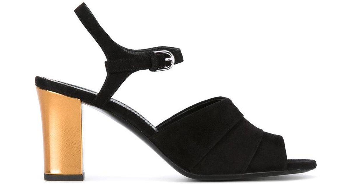 prices for sale Jil Sander Leather Peep-Toe Sandals buy cheap high quality buy cheap best wholesale AP1xD