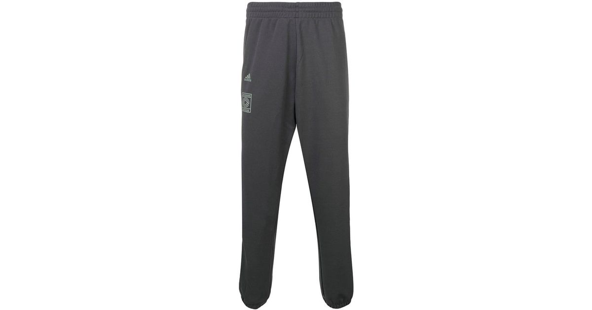 3fe753797 Adidas Blue Calabasas Track Pants in Gray for Men - Lyst
