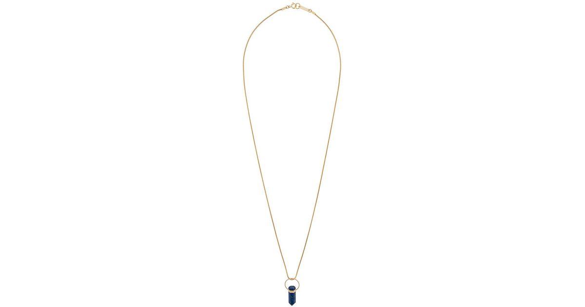long pendant necklace - Metallic Isabel Marant F9UPVC2