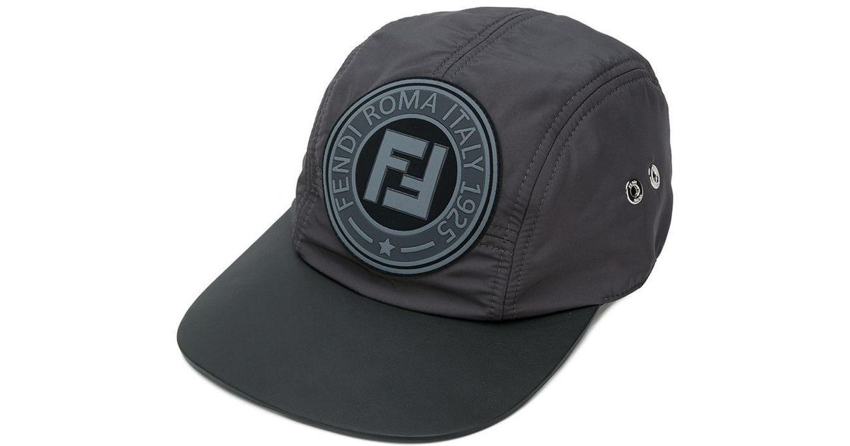 904de94bc75 Lyst - Casquette à patch logo Fendi pour homme en coloris Gris