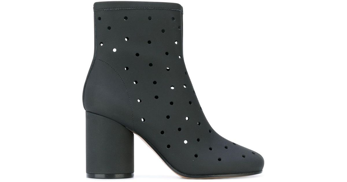 Maison Margiela hole punch mid-heel ankle boots purchase online HedNyraUB