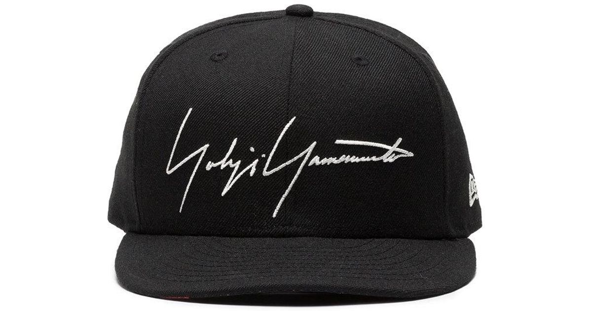Lyst - Gorra con logo bordado Yohji Yamamoto de hombre de color Negro - 8 %  de descuento 721981eedeb