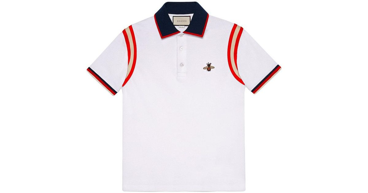 16f3821cb85 Gucci Bee Logo Polo Shirt