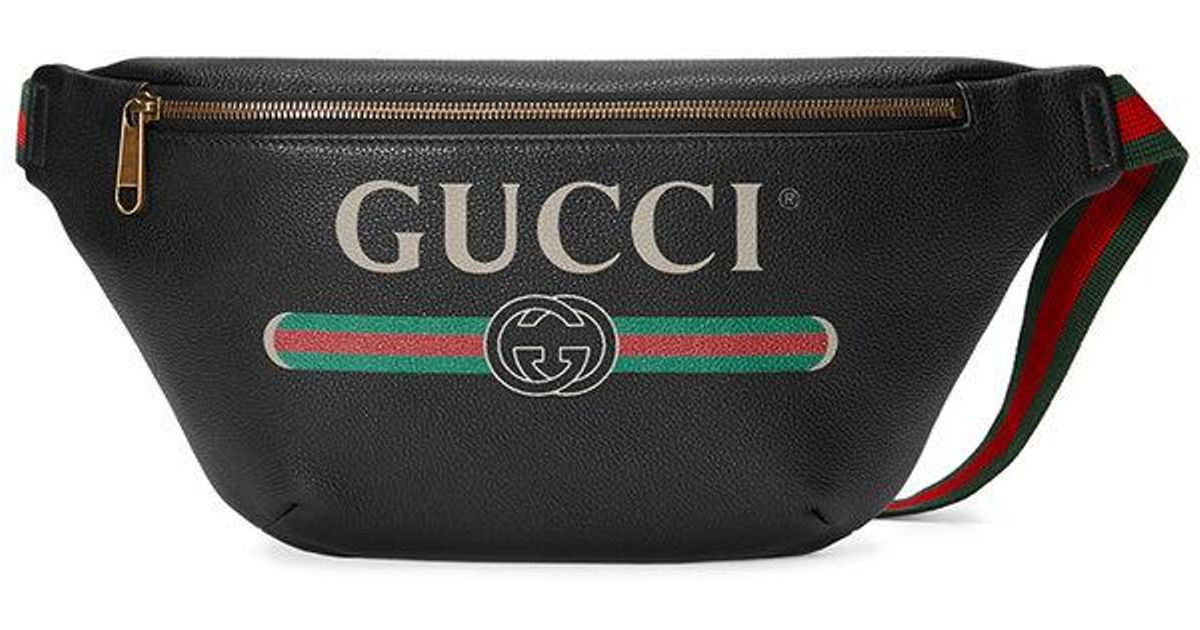 Gucci Print Leather Belt Bag in Black for Men - Save 19% - Lyst da81186580a