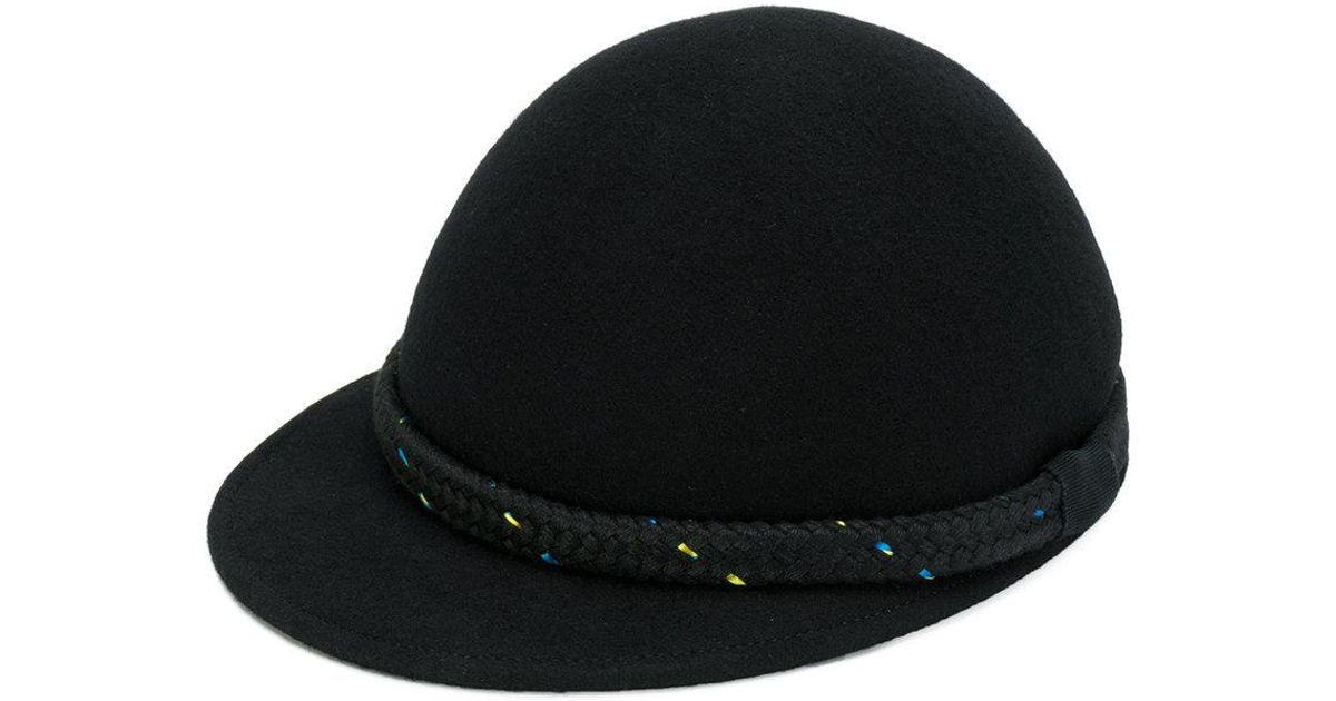 Lyst - Henrik Vibskov Braided Detail Cap in Black 46fcd3eb439