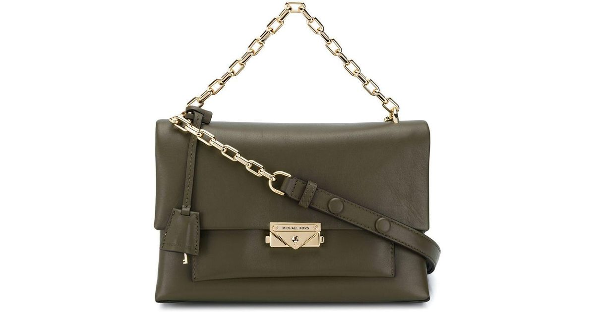 b90c42753e89 MICHAEL Michael Kors Cece Medium Shoulder Bag in Green - Lyst