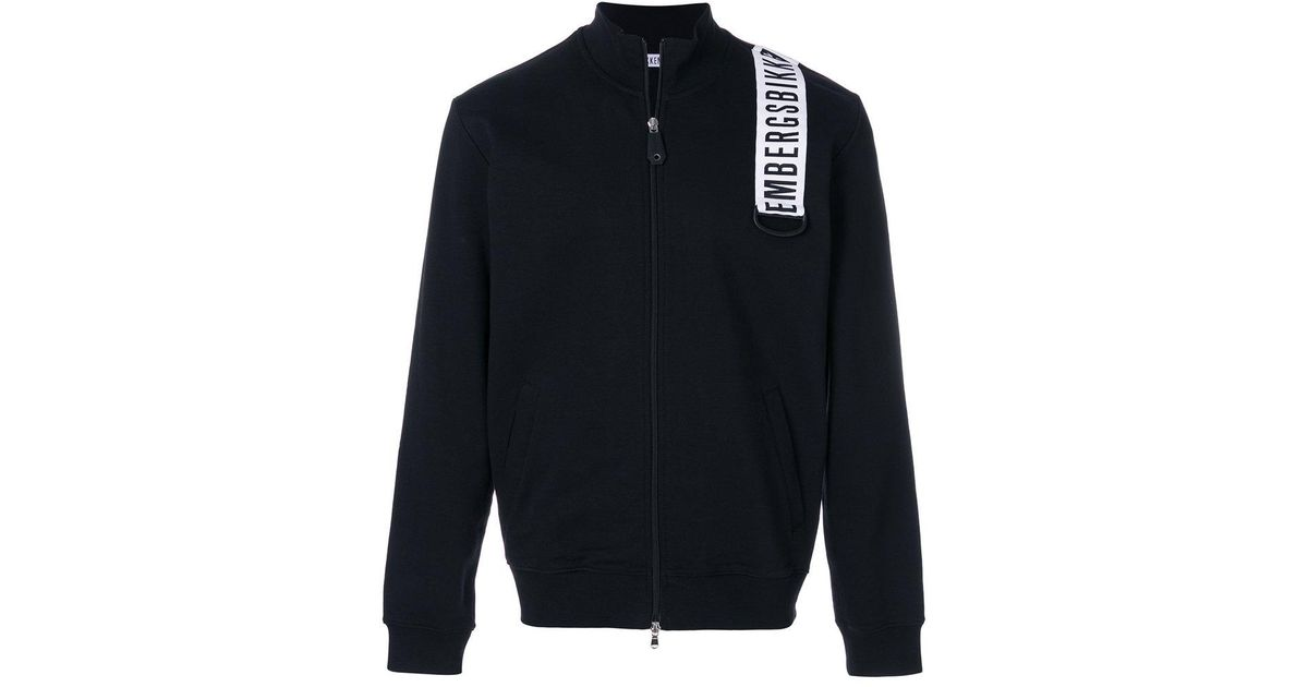 logo patch zipped sweatshirt - Black Dirk Bikkembergs Discount Footlocker Finishline Authentic Cheap Online For Sale For Sale Excellent Online Buy Cheap With Credit Card PBnryL9m