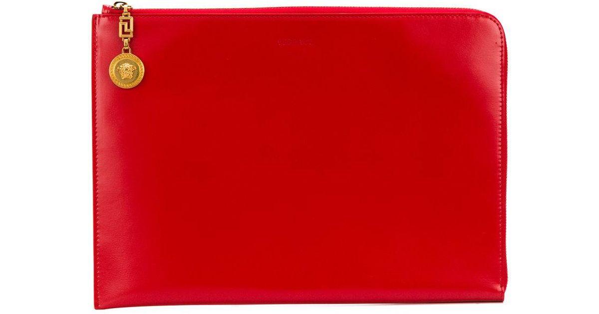 78d59188 Versace - Red Medusa Chain Clutch Bag - Lyst