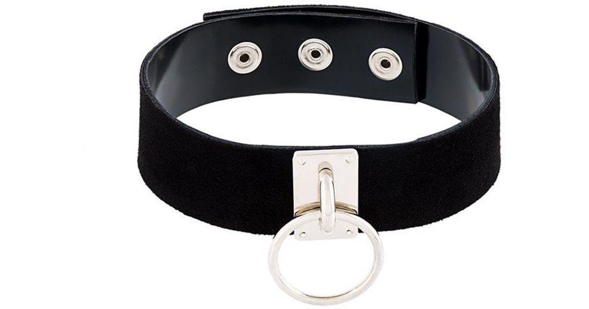 ring detailing choker - Black Manokhi ifMGpK3X