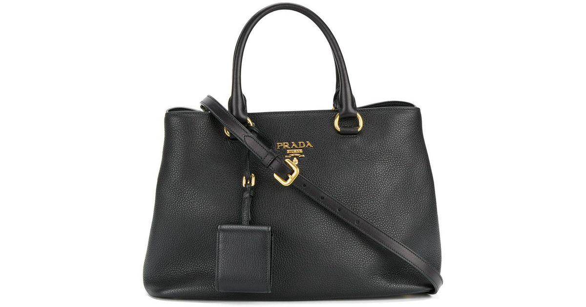 a4d045d47906 Lyst - Prada Classic Tote Bag in Black