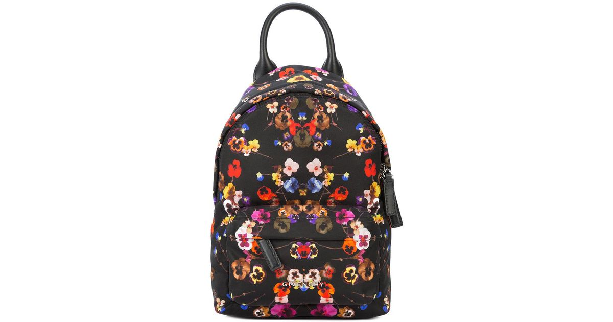 f6a5331d5cd Givenchy Floral Backpack in Black - Lyst