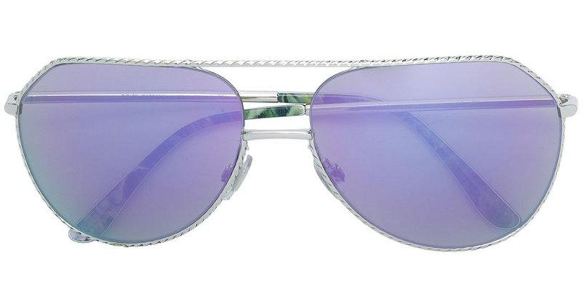 73da433516 Gafas de sol con montura aviador Dolce & Gabbana de color Metálico - Lyst