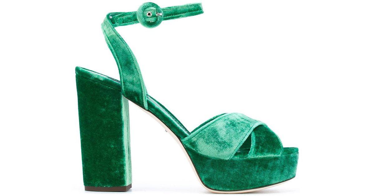 1f531ca5ba0 Lyst - Dolce   Gabbana Platform Sandals in Green - Save 60%