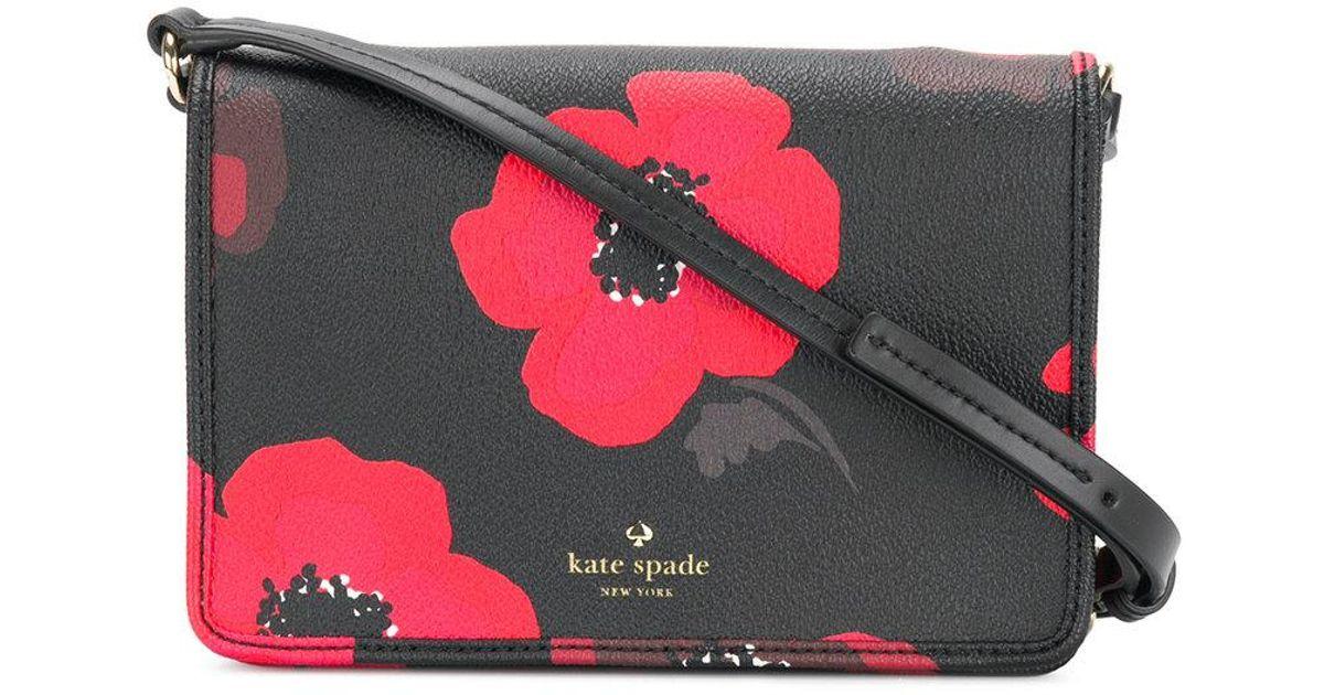 41a2f5f41dd76 Lyst - Kate Spade Floral Crossbody Bag in Black