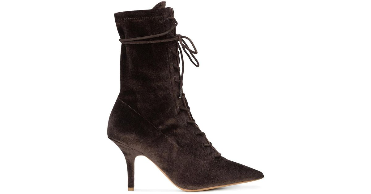 9873a0c7b Lyst - Yeezy Lace-up Ankle Boots in Brown