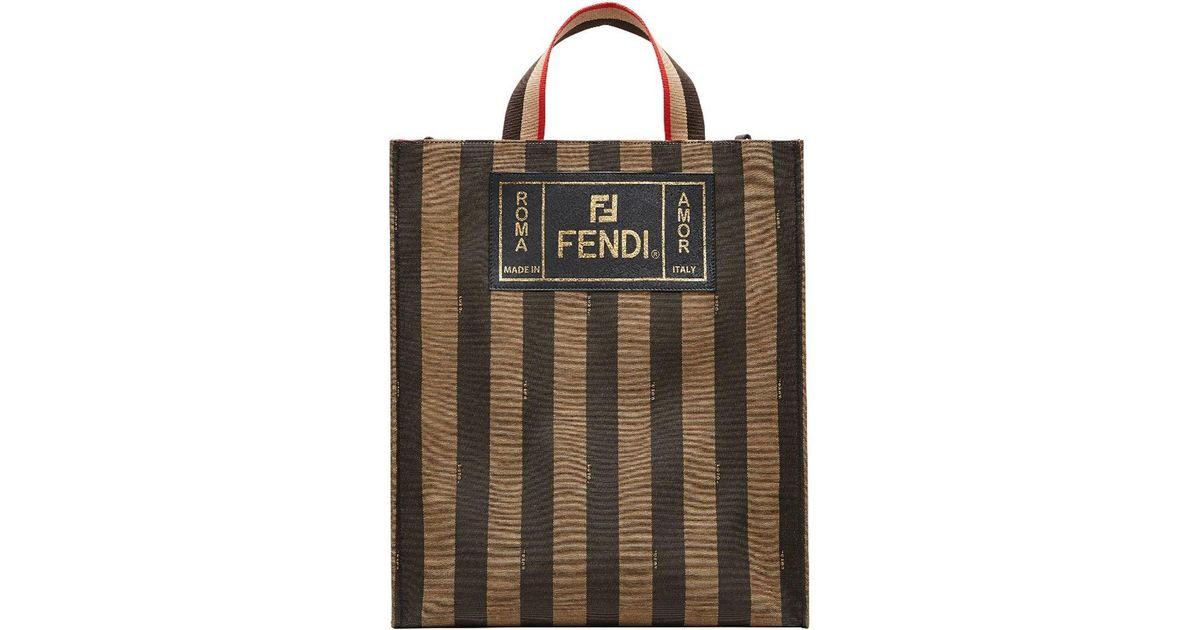 25a3a4e13e41 Fendi Striped Tote Bag for Men - Lyst