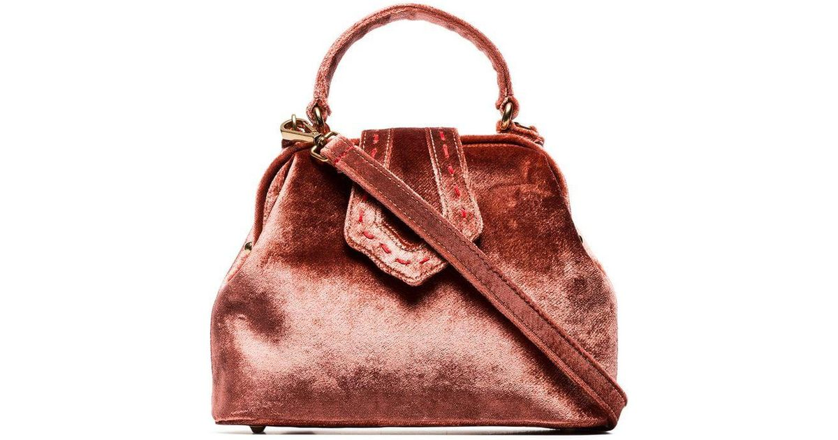 san francisco 87985 4ce91 mehry-mu-pink-Pink-Velvet-Jung-Mini-Tote-Bag.jpeg