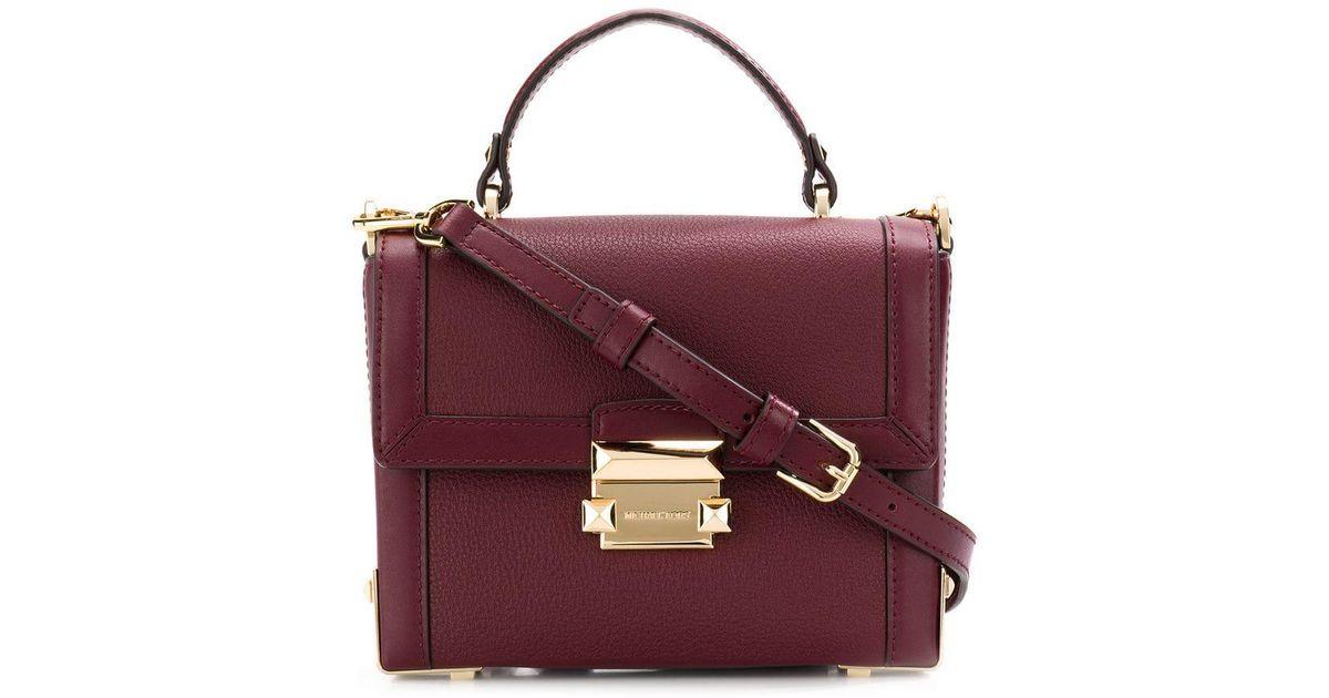 0261bad19246 Lyst - MICHAEL Michael Kors Jayne Small Pebbled Trunk Bag in Red