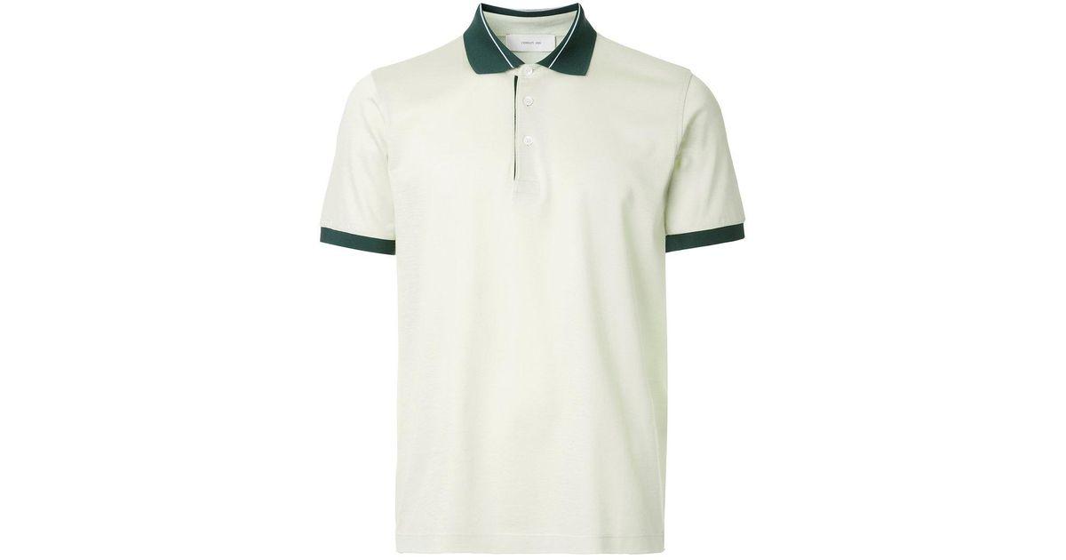 b748c4a8 Lyst - Cerruti 1881 Contrast Trim Polo Shirt in Green for Men