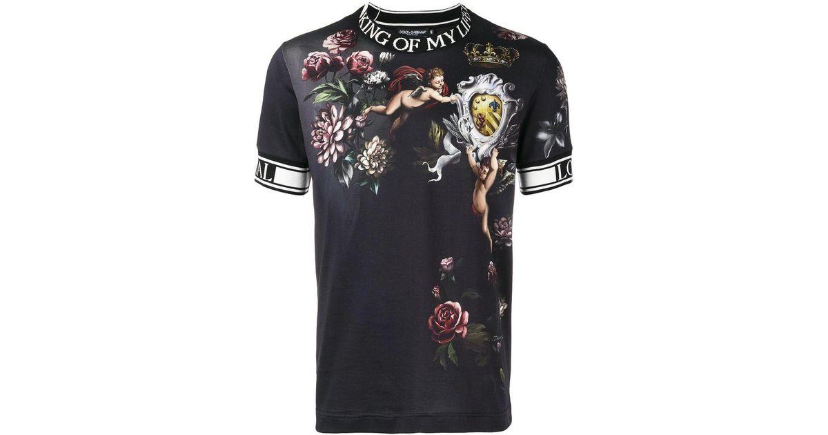 fe538e30d827 Lyst - T-shirt King of My Life Cherub Dolce   Gabbana pour homme en coloris  Noir