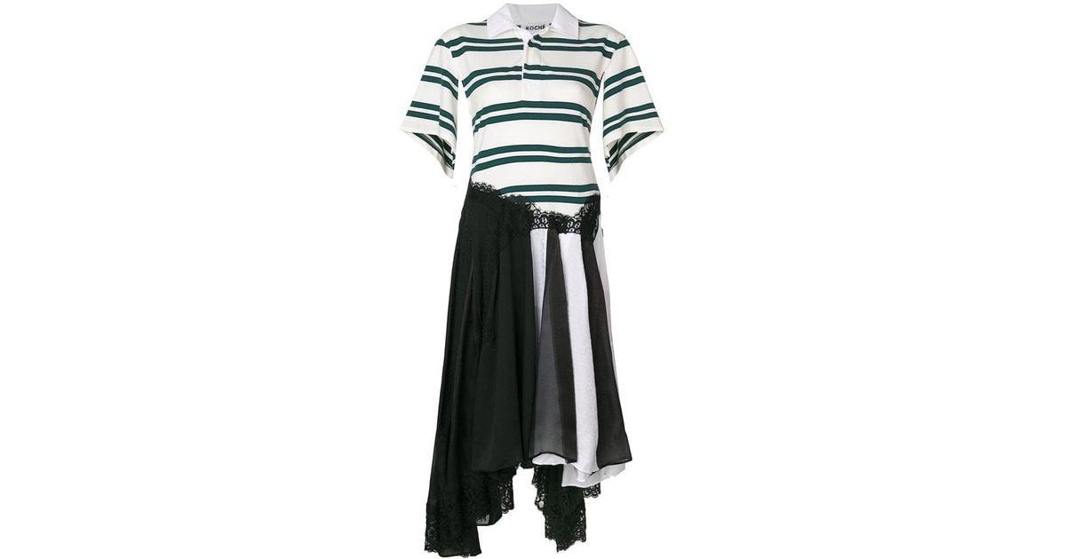 patchwork striped shirt dress - Multicolour Koch QrFlJo88e