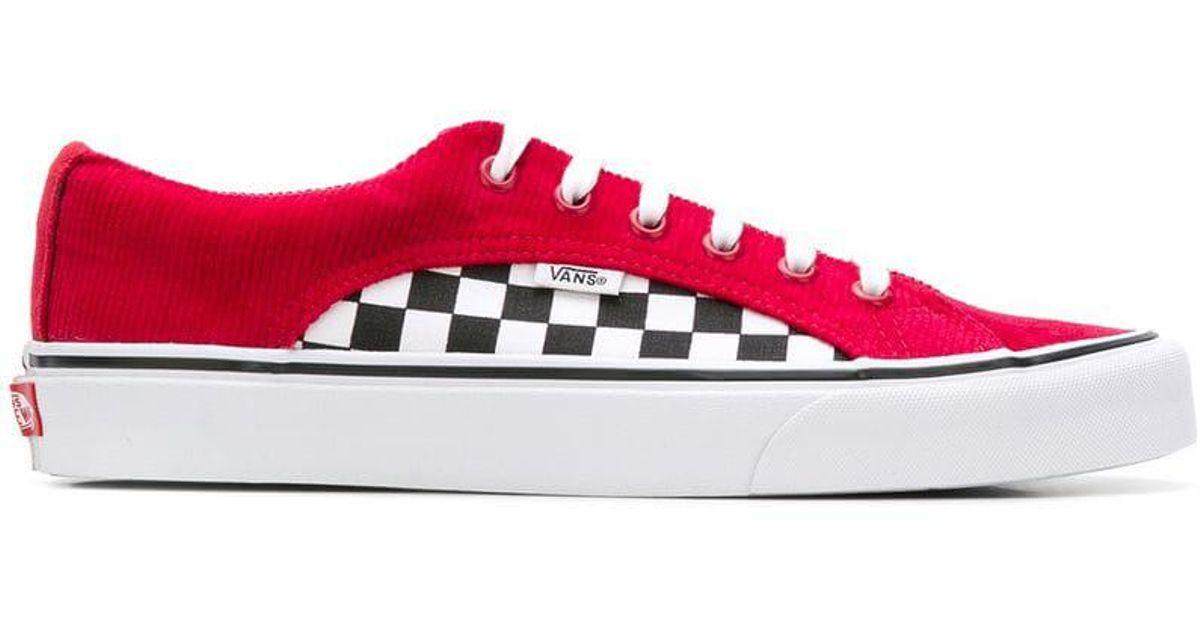 Vans Old Skool Checkered Sneakers In Red For Men Lyst