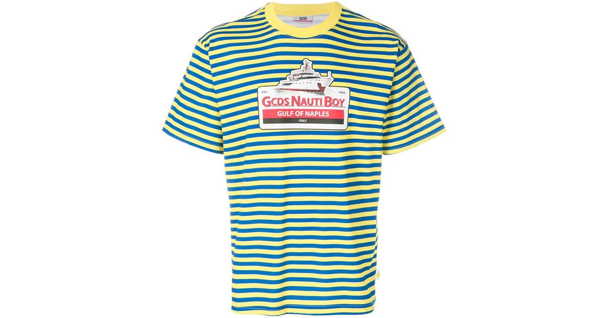 a2905cb4b3 Gcds Striped T-shirt in Green for Men - Lyst