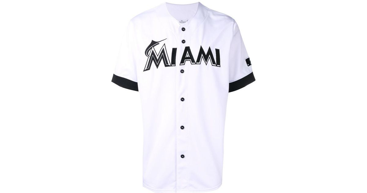 4929c7a9 Marcelo Burlon X Mlb Miami Marlins Shirt in White for Men - Lyst