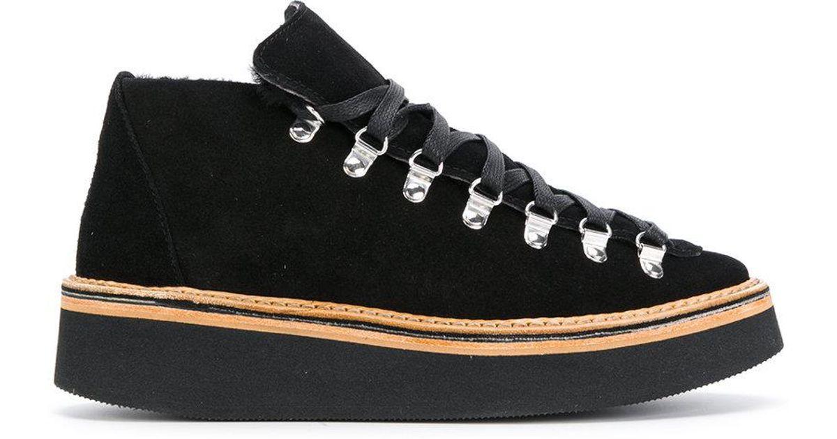 Flamants Chaussures Plate-forme À Lacets - Noir Fq0Vsk