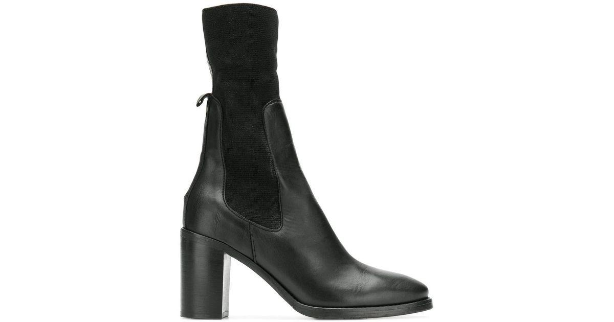 c4233d62776 Tommy Hilfiger - Black Elasticated Mid-calf Boots - Lyst
