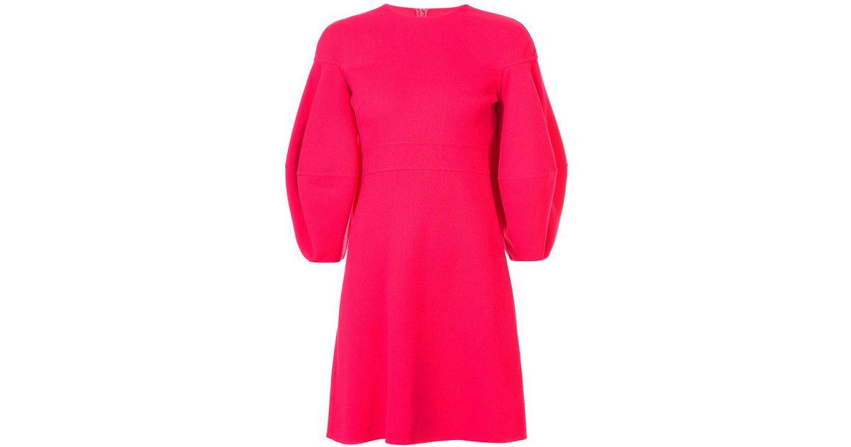 lantern sleeve flared dress - Yellow & Orange Oscar De La Renta Hot Sale Cheap Price Clearance For Nice 2018 Cool gWzoR6ZhY
